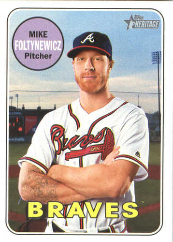 Photo of 2018 Topps Heritage #239 Mike Foltynewicz