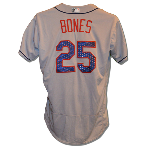 Photo of Ricky Bones #25 - Game Used 4th of July Jersey - Mets vs. Blue Jays - 7/4/18