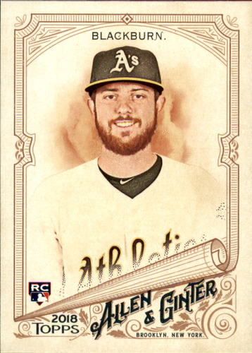 Photo of 2018 Topps Allen and Ginter #206 Paul Blackburn RC