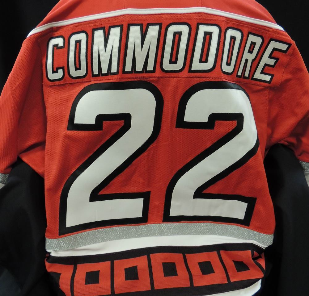 Carolina Hurricanes Authentic Game Worn Mike Commodore #22 Jersey