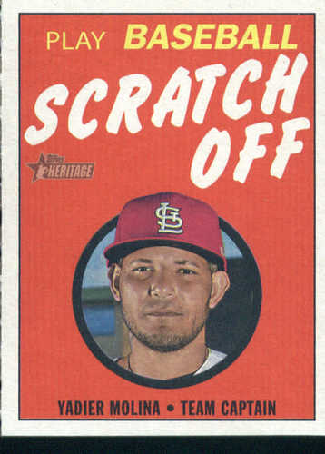 Photo of 2019 Topps Heritage '70 Topps Scratch Offs #7 Yadier Molina