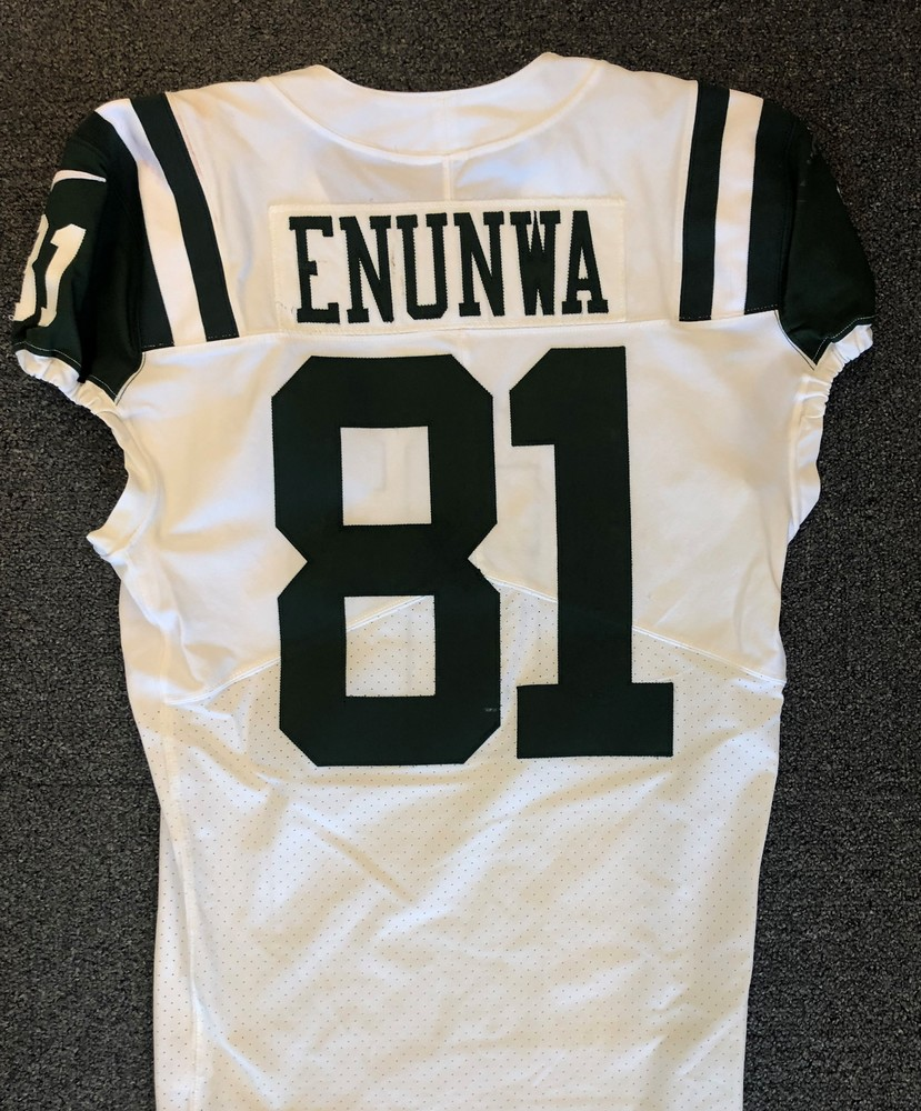 new arrival 1eb6c a01b0 NFL Auction | New York Jets - 2018 #81 Quincy Enunwa Game ...