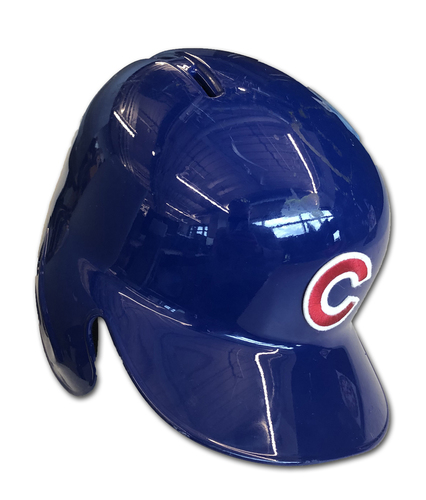 Photo of Anthony Rizzo Game-Used Cracked Batting Helmet -- Brewers vs. Cubs -- 5/10/19