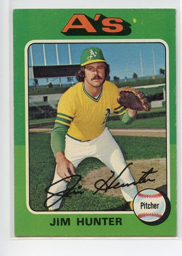 Photo of 1975 Topps #230 Jim Hunter