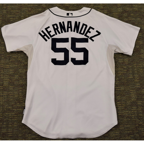 Photo of Chuck Hernandez Game Worn Detroit Tigers #55 Home Jersey (NOT MLB AUTHENTICATED)