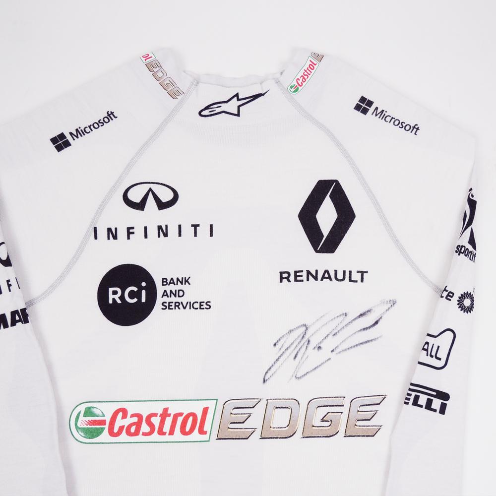 Daniel Ricciardo 2019 Renault F1 Framed White Race-worn
