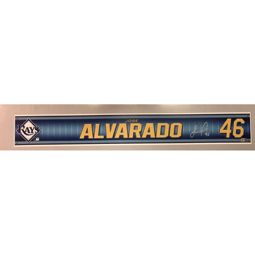 Photo of Team Issued Autographed Spring Training Locker Tag: Jose Alvarado