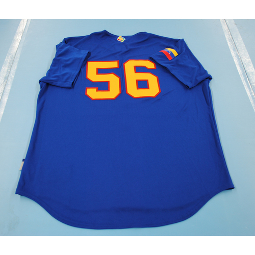 Photo of 2017 World Baseball Classic: Venezuela Batting Practice Jersey #56 - Hector Rondon - Size XL