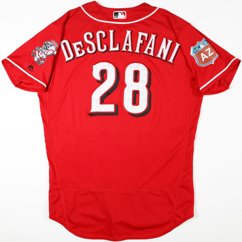 Photo of 2016 Spring Training - Spring Training Game Used Jersey - Anthony DeSclafani (Reds)- Size- 46