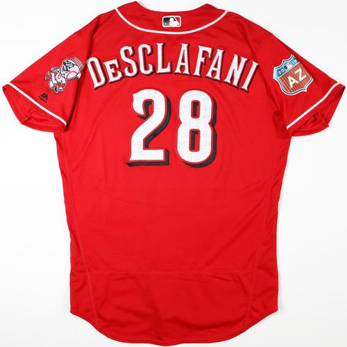 2016 Spring Training - Spring Training Game Used Jersey - Anthony DeSclafani (Reds)- Size- 46