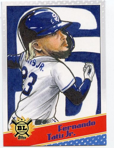 Photo of 2020 Topps Big League Star Caricature Reproductions #SCOFT Fernando Tatis Jr.