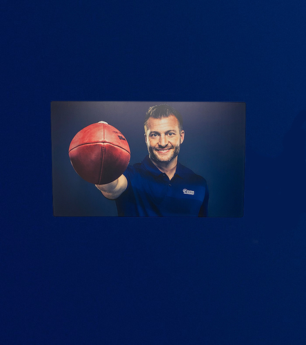 Photo of Sean McVay 40x24 Metal Canvas