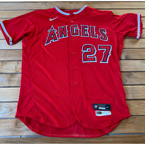 Photo of Mike Trout Game-Used Jersey from the 9/25/20 Game vs. LAD - Size 48T
