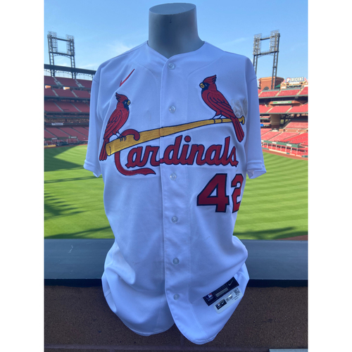 Photo of Cardinals Authentics: Team Issued Paul DeJong Jackie Robinson Day Jersey
