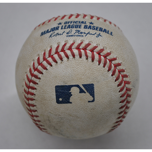 Photo of Game-Used Baseball - 2020 ALDS - New York Yankees vs. Tampa Bay Rays - Game 5 - Pitcher: Nick Anderson, Batter: Aaron Judge (Home Run to RF) - Top 4
