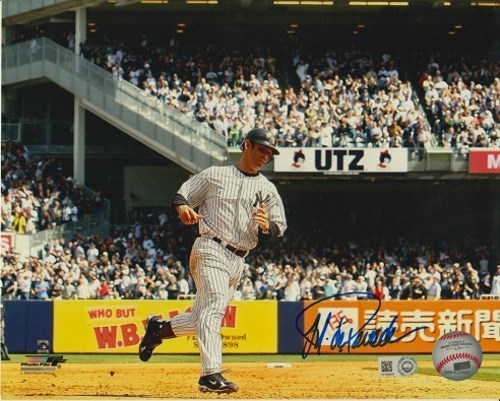 Photo of Jorge Posada Autographed 8x10 - Blue Sharpie