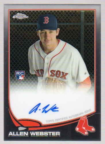 Photo of 2013 Topps Chrome Rookie Autographs #112 Allen Webster