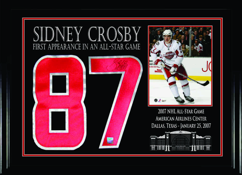 Sidney Crosby - Signed & Framed Autographed Jersey Number - 2007 All ...