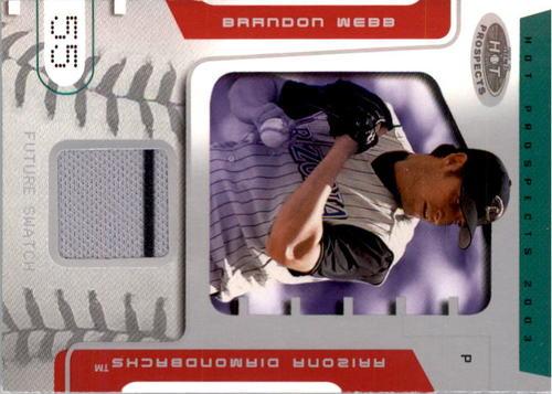 Photo of 2003 Hot Prospects #83 Brandon Webb FS Jsy RC