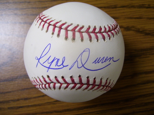 Photo of Ryne Duren Autographed Baseball