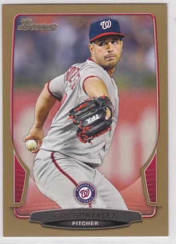 Photo of 2013 Bowman Gold #38 Gio Gonzalez