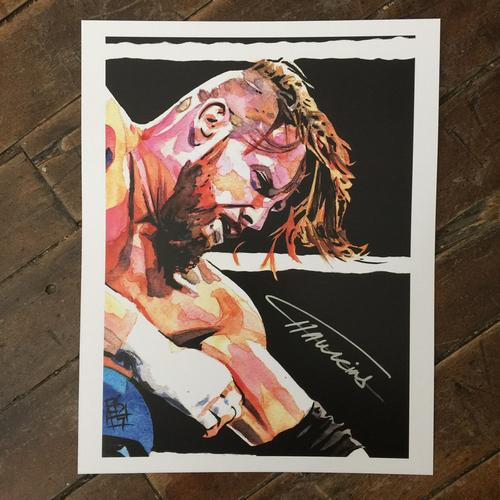 Curt Hawkins SIGNED 11 x 14 Rob Schamberger Print