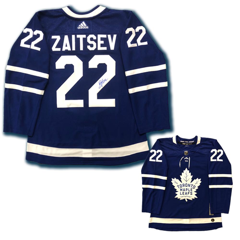 NIKITA ZAITSEV Signed Toronto Maple Leafs Blue Adidas PRO Jersey