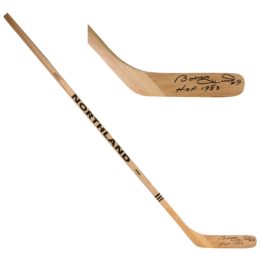 Bobby Hull Chicago Blackhawks Autographed Game Model Stick with HOF Inscription