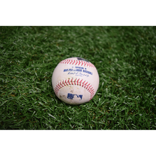 Photo of Game Used Baseball: Tampa Bay Rays vs New York Yankees - September 16, 2015 - Chris Archer sets Rays' Single Season Strikeout Record