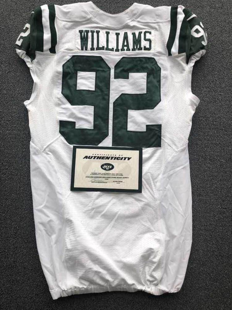 buy popular 59011 7cc2c NFL Auction   New York Jets - 2016 #92 Leonard Williams Game ...