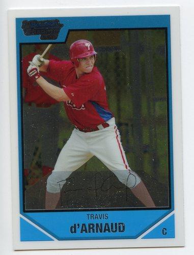 Photo of 2007 Bowman Chrome Draft Draft Picks #BDPP14 Travis d'Arnaud Pre-Rookie Card
