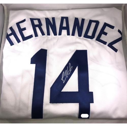 Enrique Hernandez Authentic Autographed Los Angeles Dodgers Jersey