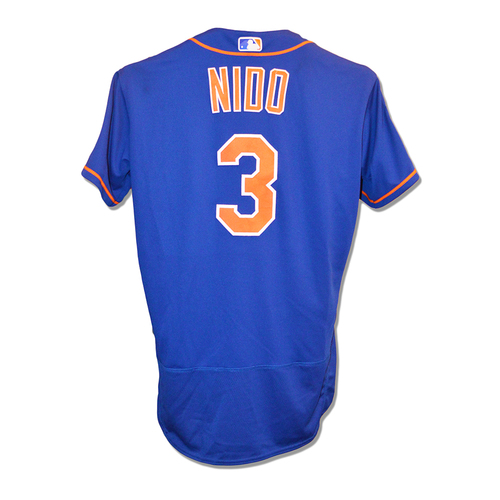 Photo of Tomas Nido #3 - Team Issued Blue Alt. Home 2019 Spring Training Jersey
