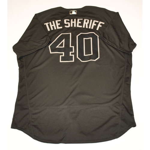 "Photo of Andrew ""THE SHERIFF"" Chafin Arizona Diamondbacks 2019 Game-Used Players' Weekend Jersey"
