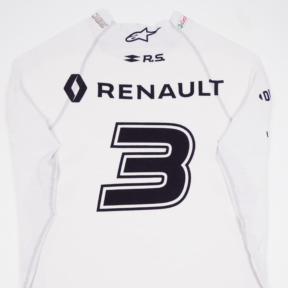 Daniel Ricciardo 2019 Renault F1 Framed White Race Worn: Daniel Ricciardo 2019 Renault F1 Framed White Race-worn