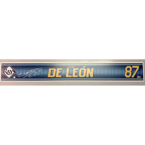 Photo of Team Issued Autographed Spring Training Locker Tag: Jose De Leon