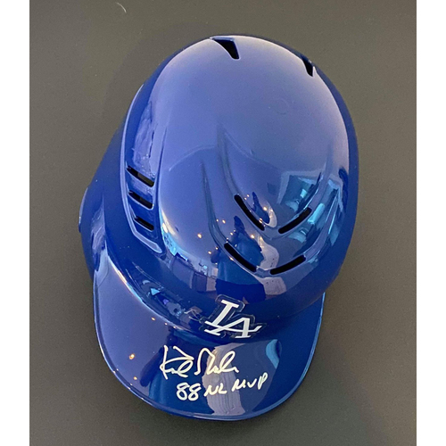"Photo of Kirk Gibson ""88 NL MVP"" Autographed Authentic Dodgers Batting Helmet"