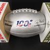 NFL - Cardinals Chandler Jones Signed Silver 100 Seasons Commemorative Football