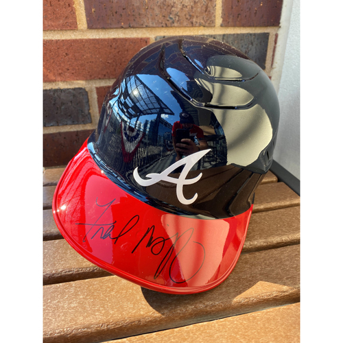 Photo of Fred McGriff Autographed Helmet (Not MLB Authenticated, COA Provided)