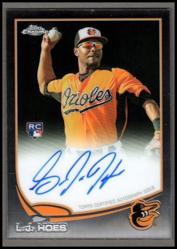 Photo of 2013 Topps Chrome Rookie Autographs #154 L.J. Hoes