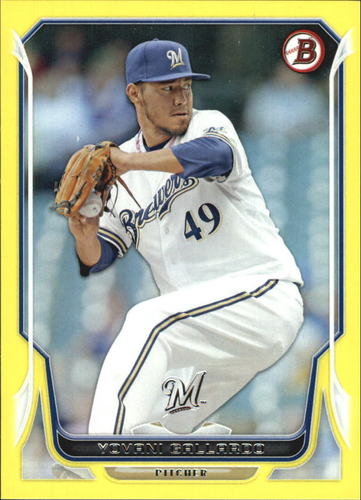 Photo of 2014 Bowman Yellow #64 Yovani Gallardo