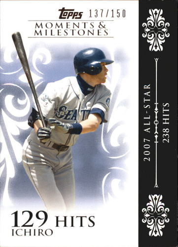Photo of 2008 Topps Moments and Milestones #63-129 Ichiro Suzuki