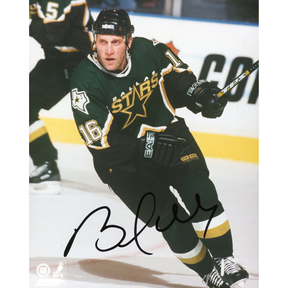 Brett Hull Dallas Stars Autographed 8'' x 10'' Skating Solo Photograph