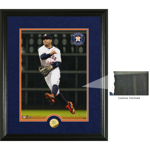 Photo of Jose Altuve 2017 American League MVP Canvas Art Gold Coin Photo Mint