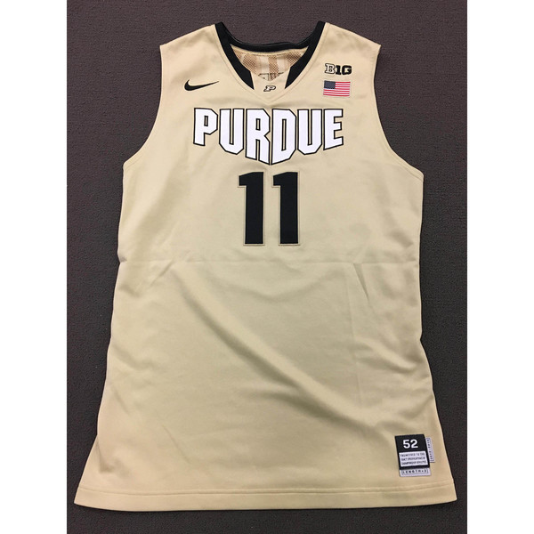 Photo of Stephen Toyra #11 Purdue Men's Basketball 2012-13 Gold Jersey