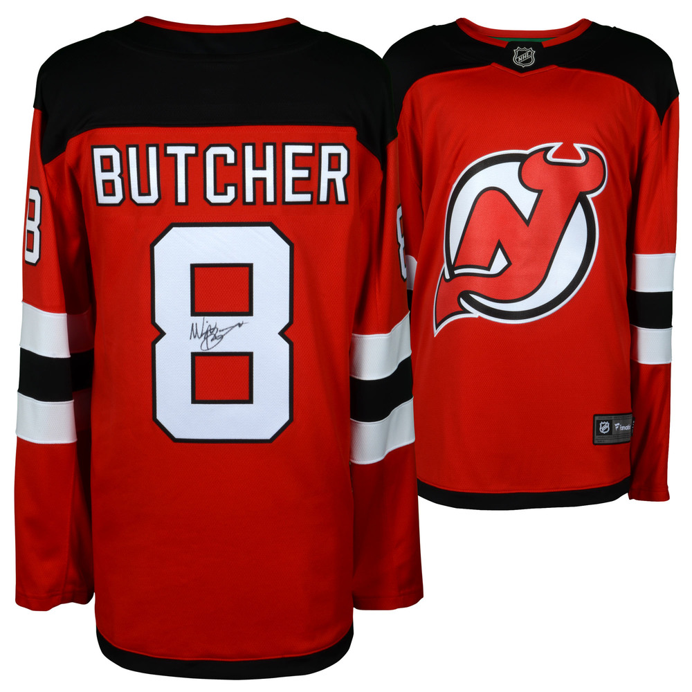 Will Butcher New Jersey Devils Autographed Red Fanatics Breakaway Jersey