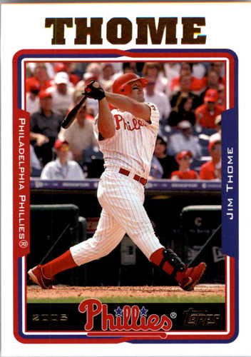 Photo of 2005 Topps #25 Jim Thome -- Newest Hall of Famer Class of 2018