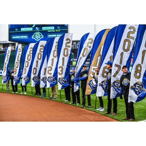 Photo of Opening Day Ceremony Flag: 1975