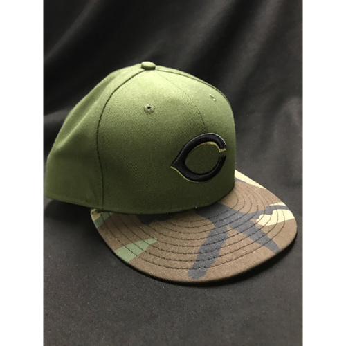 Photo of Austin Brice - Game-Used - Military Appreciation Hat (Worn: 2018) - 5/19 1 IP, 1 ER, 1 SO