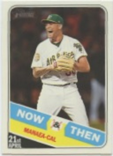 Photo of 2018 Topps Heritage Now and Then #NT13 Sean Manaea
